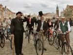 Velocypedisti v Telči