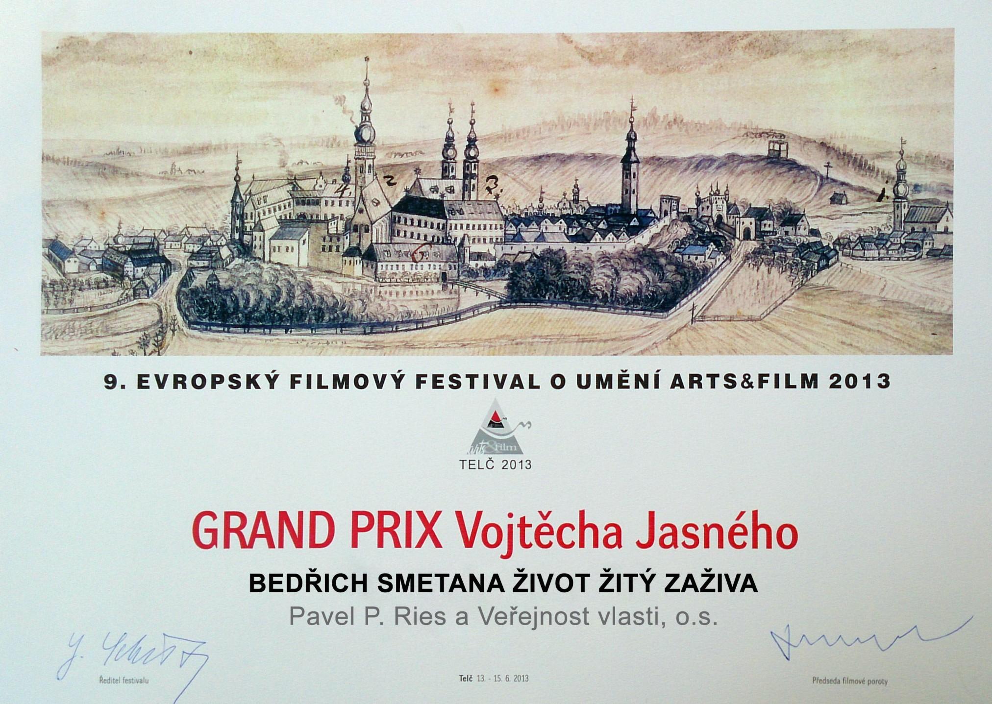 Diplom ke GP Vojtěcha Jasného